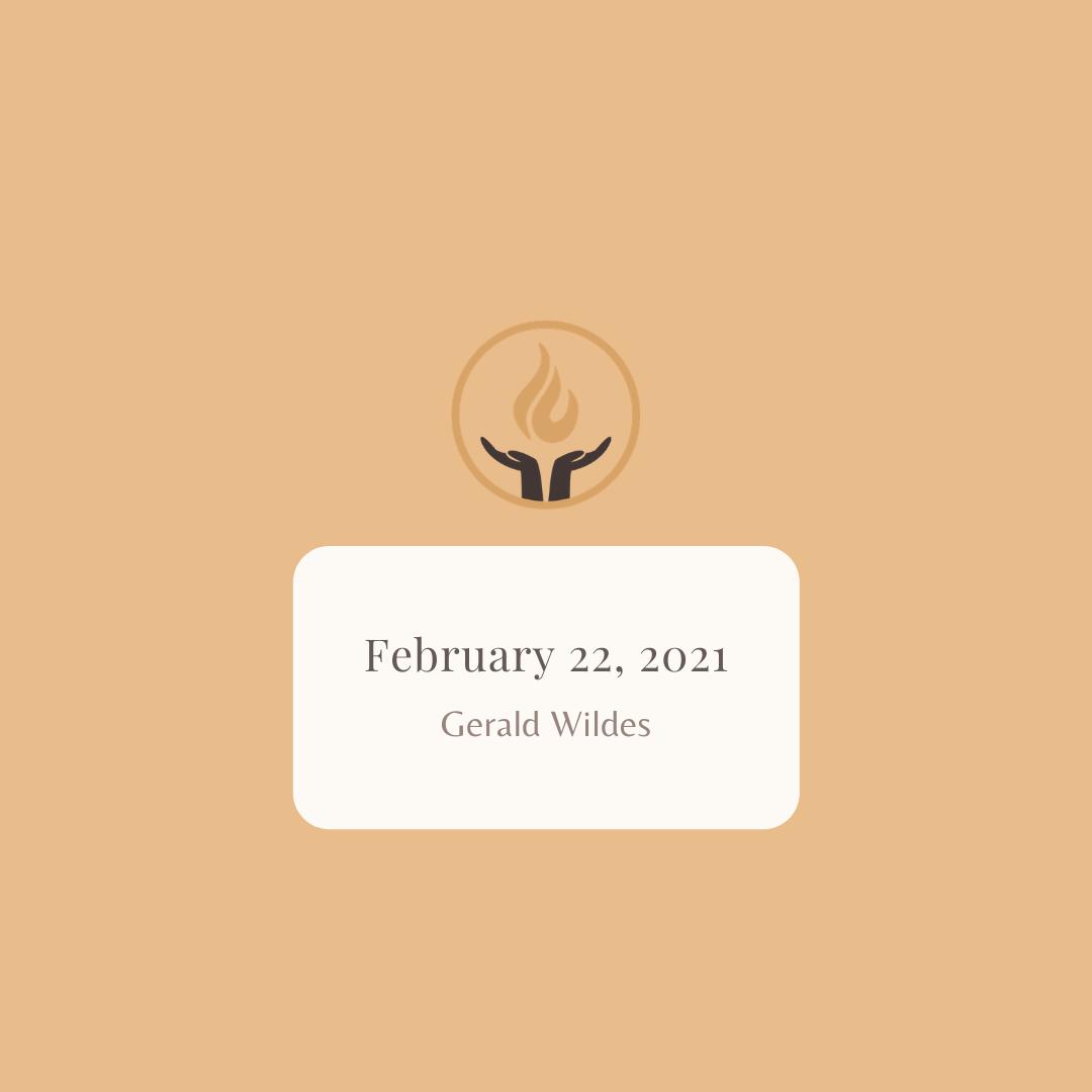 February 22 2021 Gerald Wildes
