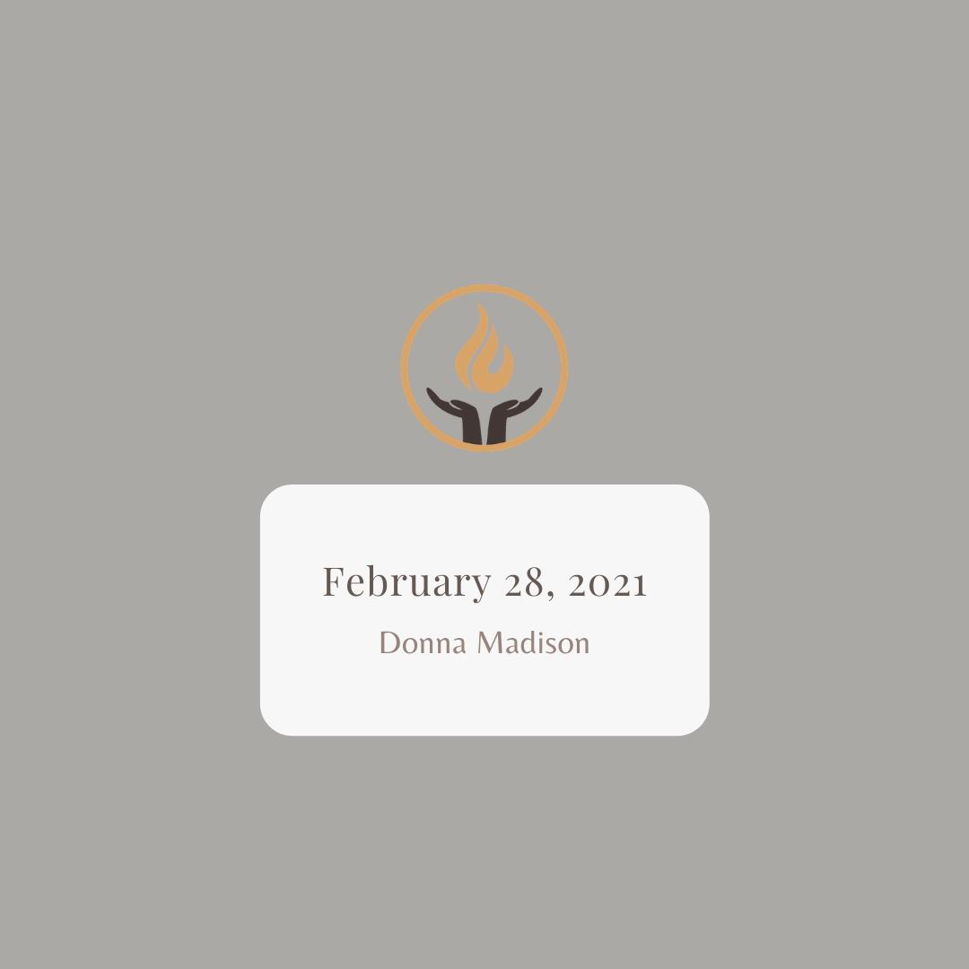 February 28 2021 Donna Madison