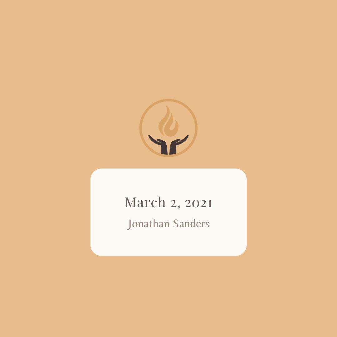 March 2 2021 Jonathan Sanders