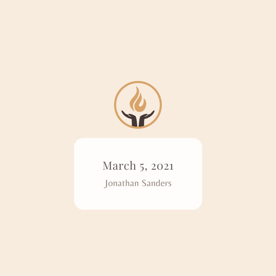 March 5 2021 Jonathan Sanders