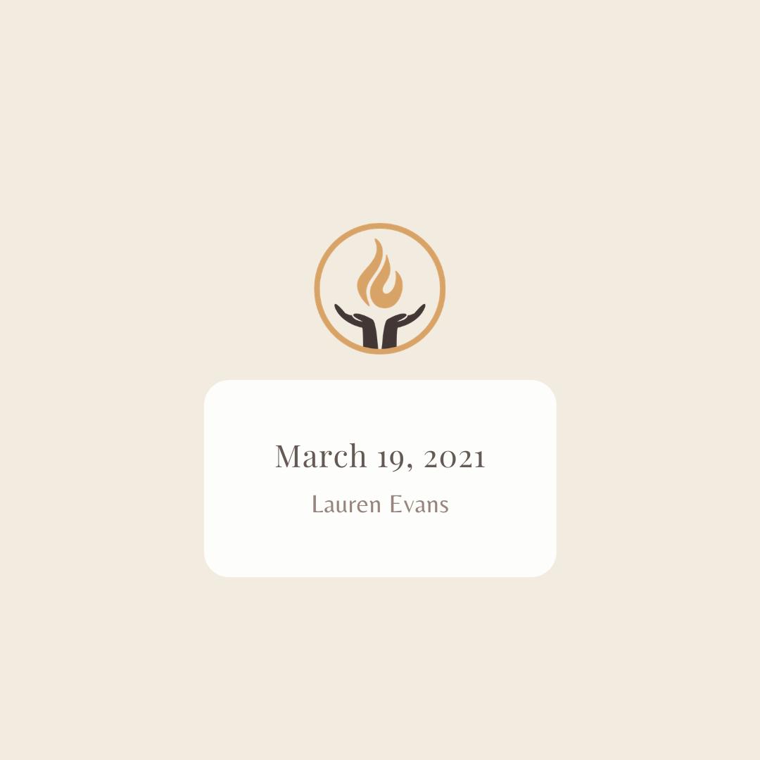 March 19 2021 Lauren Evans