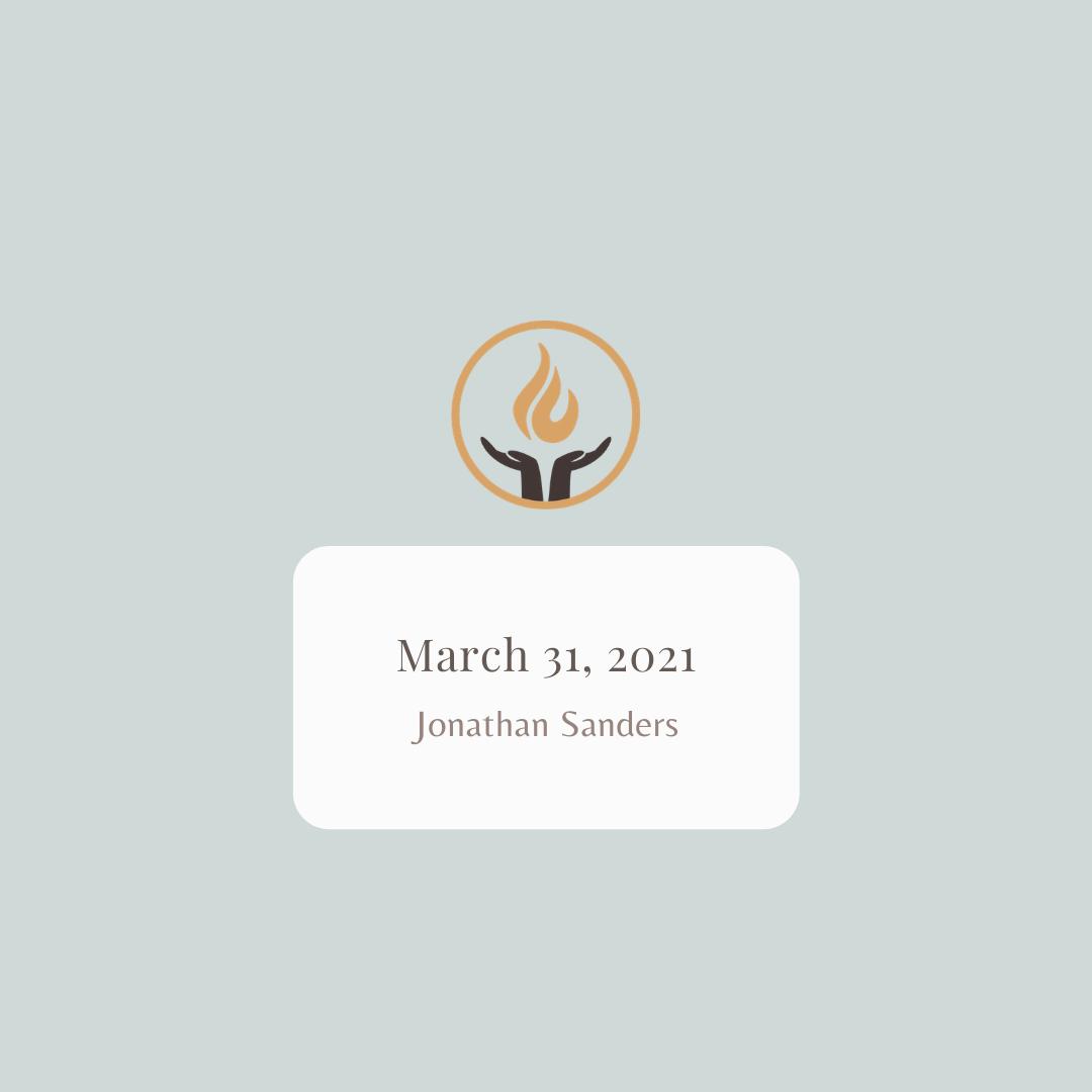March 31 2021 Jonathan Sanders